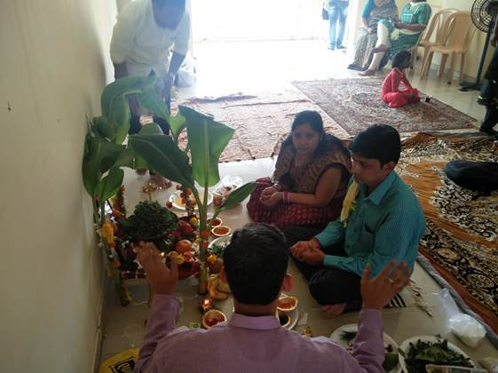 Pooja at our office performed by our Team