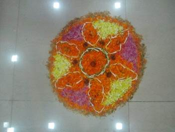 Rangoli by team at our office